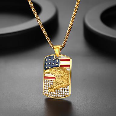 olcso Vésett nyakláncok-Személyre Személyre szabott Nyaklánc medálok 18 karátos futtatott arany Rozsdamentes acél 1db / csomag Aranyozott Ezüst