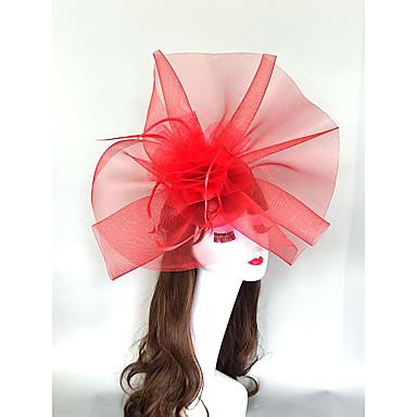 povoljno Party pokrivala za glavu-Headpieces Perje / Net Fascinators / kape / Headpiece s Perje / Kapa / Cvijet 1 komad Vjenčanje / Konjska utrka Glava