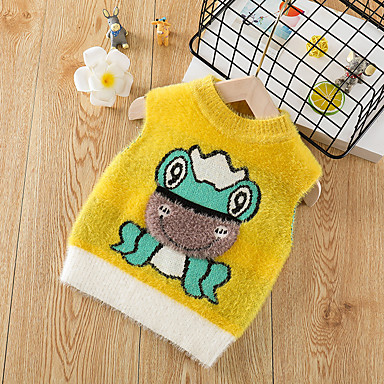 cheap Baby & Kids-Toddler Boys' Basic Animal Print Sleeveless Tank & Cami Yellow