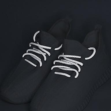 رخيصةأون اكسسوارات الأحذية-2 قطعتين البوليستر رباط الحذاء للجنسين كل الفصول فضفاض أبيض / أسود / برتقالي
