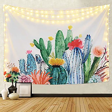 cheap Wall Tapestries-Architecture Wall Decor Polyester Nature & Landscapes Wall Art, 150*100 150*150 150*200 150*130 200*180 230*180 cm Decoration