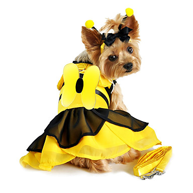 cheap Dog Clothes-Dog Costume Color Block Party Cute Christmas Party Dog Clothes Breathable Yellow Red Costume Cotton XS S M L XL / Halloween