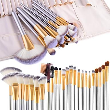 cheap Makeup Brush Sets-Professional Makeup Brushes 24pcs Professional Full Coverage Wooden / Bamboo for Makeup Brush Set