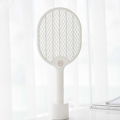 cheap Personal Protection-Xiaomi Mijia Electric Mosquito Swatter Three-layer Anti-electric Shock Net USB Charging LED Mosquito Dispeller For Smart Home