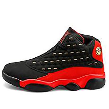 abordables Chaussures de Course Homme-Homme Eté De plein air Chaussures d'Athlétisme Basketball Polyuréthane Noir / Rouge / Noir / Orange