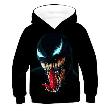 cheap Boys' Clothing-Kids Boys' Active Basic 3D Long Sleeve Hoodie & Sweatshirt Black