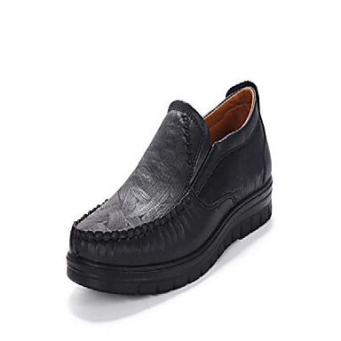 cheap Men's Slip-ons & Loafers-mens slip-on loafers casual boat leather shoes dress shoes walking work flats summer breathable lightweight wear resistant canvas black(7.5 m us,25 cm heel to toe
