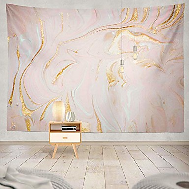 cheap Landscape Tapestries-polyester glitter tapestry gold glitter paint tapestry marble gold pastel watercolor ink glitter galaxy liquid flow pink and gold wall hanging tapestry for girls 60x50 inch