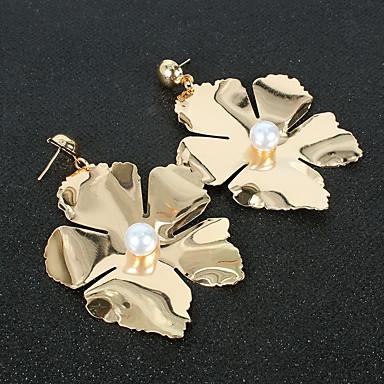 cheap Earrings-Women's Hoop Earrings Classic Flower Love Classic Vintage Earrings Jewelry Gold For Wedding Party 1 Pair