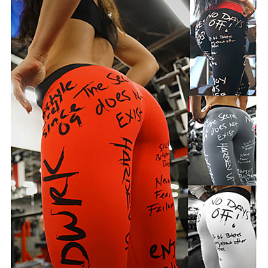 cheap Exercise, Fitness & Yoga-Women's High Waist Yoga Pants Leggings Butt Lift Breathable Quick Dry White Black Red Spandex Fitness Running Workout Sports Activewear High Elasticity Skinny / Moisture Wicking
