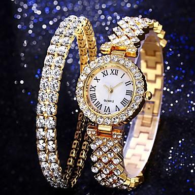 billige kvinners luksus klokker-Dame Quartz Quartz Formell Stil Moderne Stil Luksus Kronograf Svart / Brun / Gylden Analog - Rosa Gull Sølv