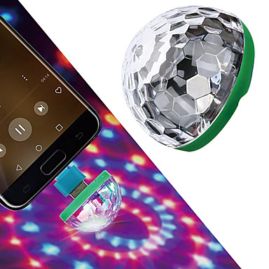cheap Novelties-LED Mini USB Magic Ball Light Colorful Atmosphere RGB DJ Club Disco Party Car Lamp Stage Effect Portable Xmas Halloween Holiday