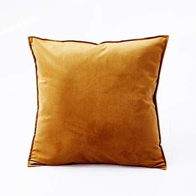 cheap Decorative Pillows-1 Pc Luxury Velvet Solid Color Pillow Case Cover Living room Bedroom Sofa Cushion Cover