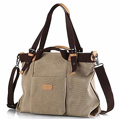 cheap Handbag & Totes-z-joyee women shoulder bags casual vintage hobo canvas handbags top handle tote crossbody shopping bags