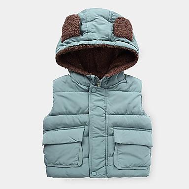 cheap Baby & Kids-Kids Boys' Basic Solid Colored Fur Trim Sleeveless Tank & Cami Brown