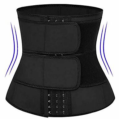 cheap Fitness Gear & Accessories-waist trainer corset trimmer belt for women weight loss, waist cincher shaper slimmer-black-xl