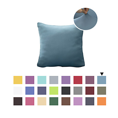 cheap Cushion Cover-1 Pc Decorative Solid Color Throw Pillow Cover Pillowcase Cushion Cover for Bed Couch Sofa 18*18 Inches 45*45cm