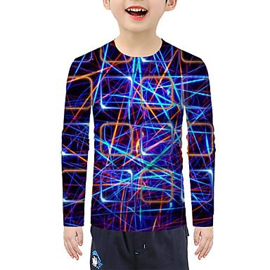 cheap Baby & Kids-Kids Boys' Active 3D Long Sleeve Tee Rainbow