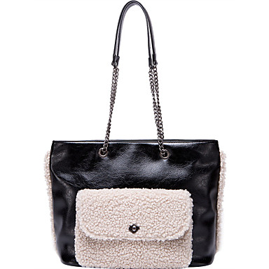 cheap Bag Sets-Women's Bags PU Leather Bag Set for Going out / Office & Career Black