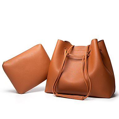 cheap Bag Sets-Women's Bags PU Leather Bag Set 2 Pieces Purse Set for Daily / Going out Black / Brown