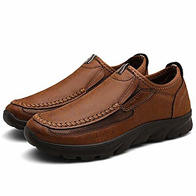 cheap Men's Slip-ons & Loafers-men's slip-on casual loafers leisure comfort simulation leather lightweight breathable working driving and traveling shoes husband boyfriend gift ¡ brown