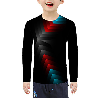 cheap Baby & Kids-Kids Boys' Active 3D Long Sleeve Tee Black