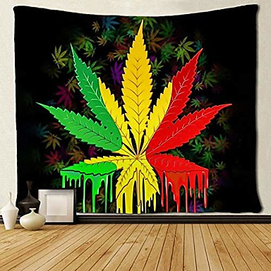 cheap Wall Tapestries-tapestry reggae rasta marijuana leaf weed tapestries wall hanging throw tablecloth 50x60 inches for bedroom living room dorm room