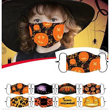 abordables Protection personnelle-1 pc masque de coton Halloween anti-poussière impression drôle masque de coton PM2.5 filtre lavage masque adulte