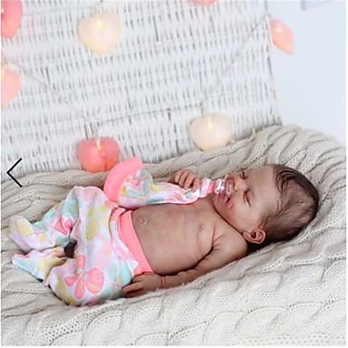 cheap Reborn Doll-20 inch Reborn Doll Baby & Toddler Toy Baby Girl Reborn Baby Doll April Newborn lifelike Hand Made Simulation Cloth Silicone Vinyl with Clothes and Accessories for Girls' Birthday and Festival Gifts
