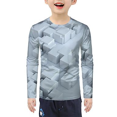 cheap Baby & Kids-Kids Boys' Active 3D Long Sleeve Tee Silver