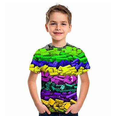 Baby & Kids-Kids Boys' Basic Holiday Geometric Print Short Sleeve Tee Purple