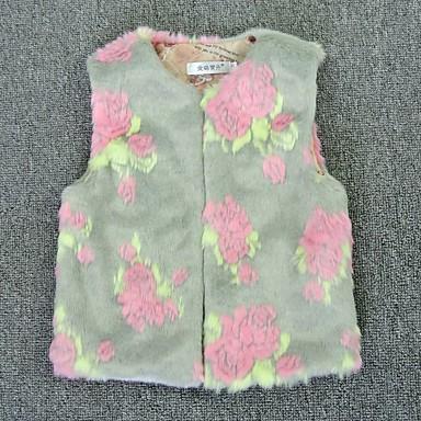 cheap Baby & Kids-Kids Girls' Basic Floral Print Sleeveless Tank & Cami Gray