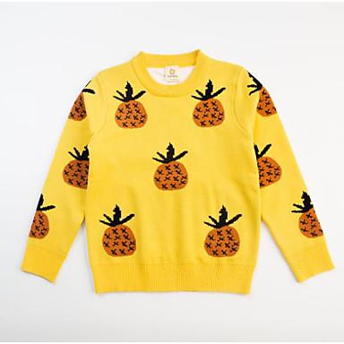 cheap Baby & Kids-Kids Girls' Basic Red Fruit Print Long Sleeve Sweater & Cardigan Red