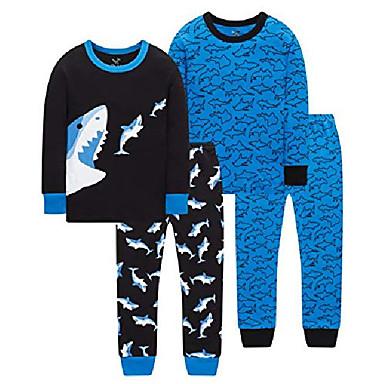 cheap Boys' Clothing Sets-women pajamas christmas pjs set long sleeve sleepwear loungewear for women girl size s