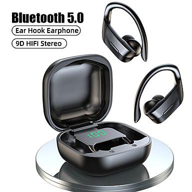 cheap Headphones & Earphones-LITBest B12 TWS Wireless Headphones Bluetooth 5.0 Earphones 9D Hifi Stereo Sports Waterproof Headphone LED Display Earphone Ear Hook Headset