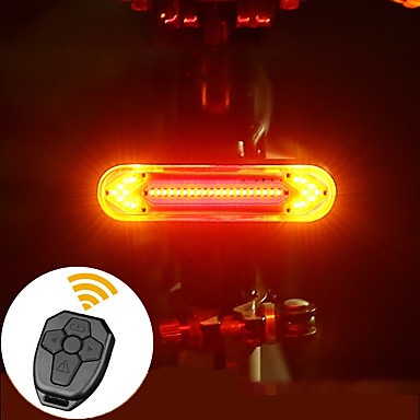 Cy/_ USB Rechargeable Bike Rear Tail Light LED Bicycle Warning Safety Smart Lamp