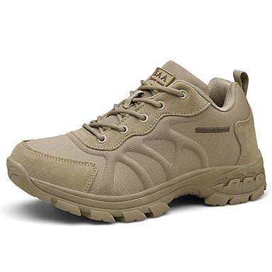 abordables Chaussures de Course Homme-Homme Printemps / Automne Athlétique Chaussures d'Athlétisme Course à Pied Cuir Noir / Kaki