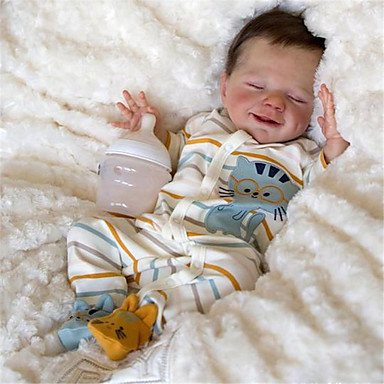 cheap Dolls, Playsets & Stuffed Animals-20 inch Reborn Doll Baby & Toddler Toy Baby Girl Reborn Baby Doll April Newborn lifelike Hand Made Simulation Floppy Head Cloth Silicone Vinyl with Clothes and Accessories for Girls' Birthday and
