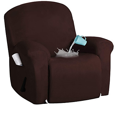 cheap Slipcovers-Stretch Recliner Slipcovers 1-Piece Modern Solid color waterproof suede Sofa Furniture Protector Fit Stretch Stylish Recliner Cover