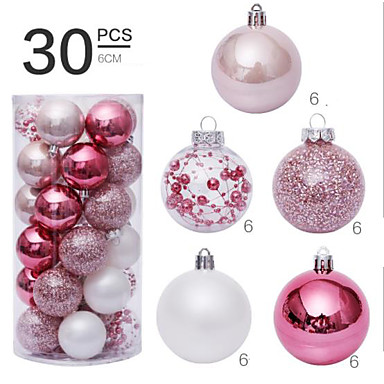 cheap Home Decor-30 Pcs 6cm Christmas Balls Ornaments for Xmas Tree - Shatterproof Christmas Tree Decorations Hanging