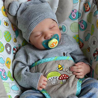 Χαμηλού Κόστους Παιχνίδια-20 inch Κούκλες σαν αληθινές Παιχνίδι για Μωρό & Νήπιο Αναγεννημένη κούκλα μωρών Λέβι Νεογέννητος όμοιος με ζωντανό Χειροποίητο Προσομοίωση Κεφαλής δισκέτας Ύφασμα Σιλικόνη βινύλιο