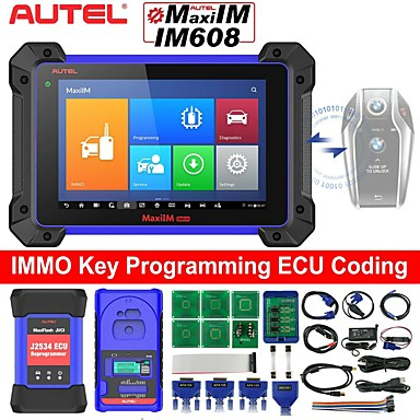 cheap OBD-Autel MaxiIM IM608 Top Key Programming Diagnostic Tool for Programming ECU Coding 30 Service Functions with IMMO XP400 Key Programmer J2534 Reprogrammer