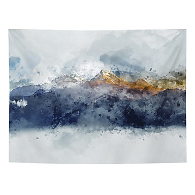 cheap Wall Tapestries-Chinese Ink Painting Style Wall Tapestry Art Decor Blanket Curtain Hanging Home Bedroom Living Room Decoration Abstract Mountain