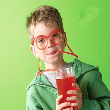 cheap Gifts & Decorations-Creative Fun Eyeglass Straws Crazy Funny Art Straws Party Style Straws 10pcs