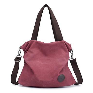 cheap Handbag & Totes-crossbody cloth purses womens casual canvas shoulder bags satchel travel tote handbags black