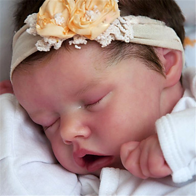 cheap Dolls, Playsets & Stuffed Animals-17 inch Reborn Doll Baby & Toddler Toy Baby Girl Reborn Baby Doll Twins A Newborn lifelike Hand Made Simulation Floppy Head Cloth Silicone Vinyl with Clothes and Accessories for Girls' Birthday and