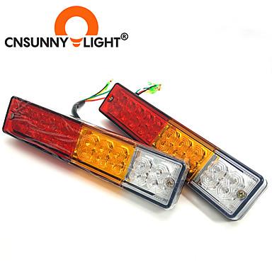 billige Baklys til bil-cnsunnylight bil lastebil 20 led 10w bak baklys varsellamper bak lamper par båthenger vanntette bakdeler til campingvogner dc 12v 24v