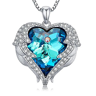 cheap Pendant Necklaces-heart of ocean pendant necklaces for mom made with swarovski crystals