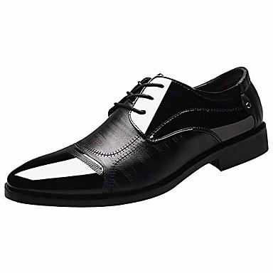 abordables Oxfords Homme-Hommes sans lacets mocassins bout pointu en cuir oxford à lacets classique confortable moderne chaussures habillées d'affaires