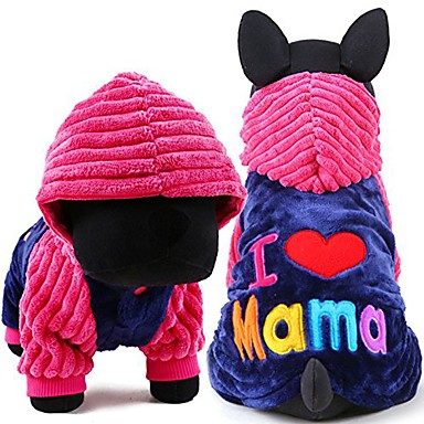 cheap Dog Clothes-dog clothes i love papa and mama winter pet dog clothes small medium dog coats jackets for chihuahua poodle (m, i love mama)